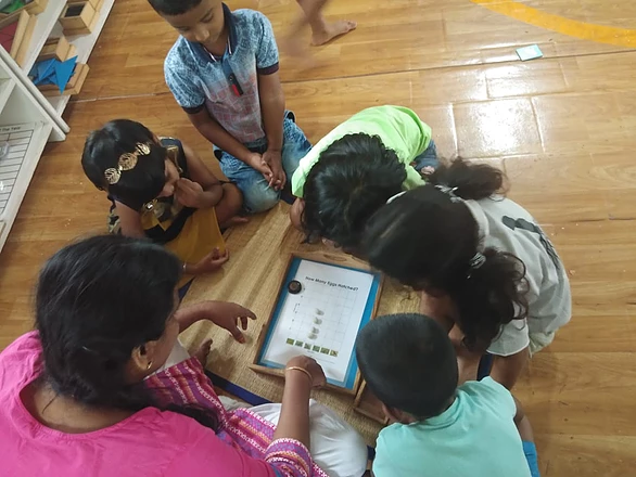 Group activity on numbers with puzzle