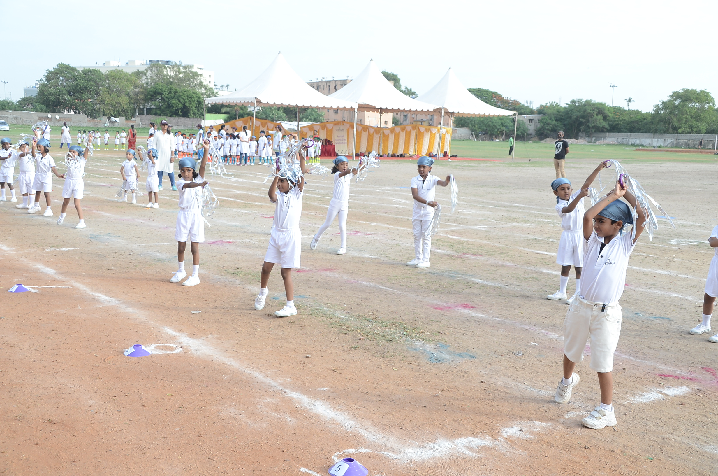 Drill by Primary 1 representing _Snow_