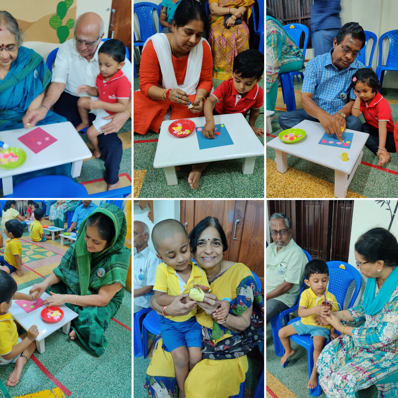 Fun craft activity with Grandparents