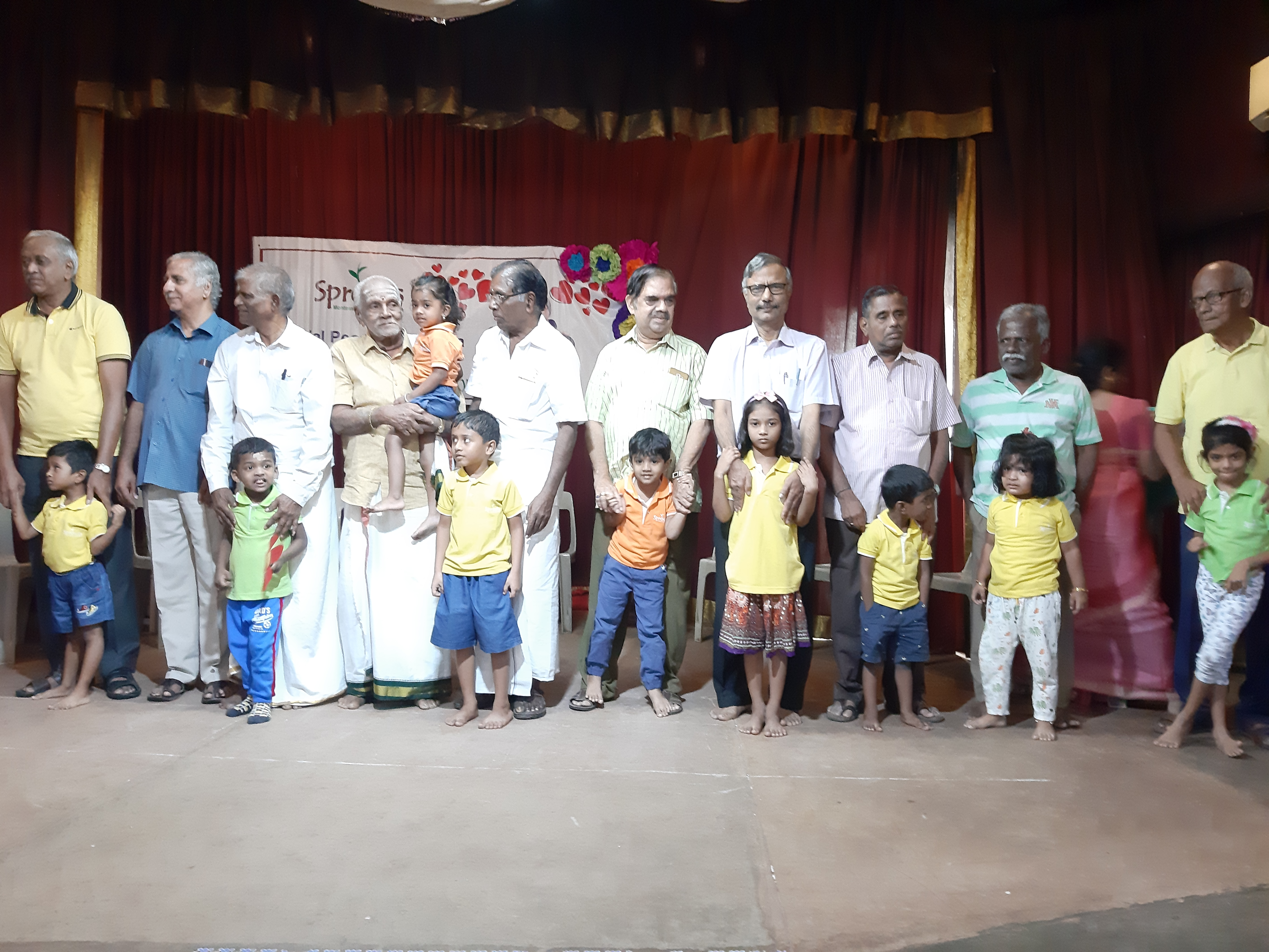 Fun time with Thathas on Grandparents_ D