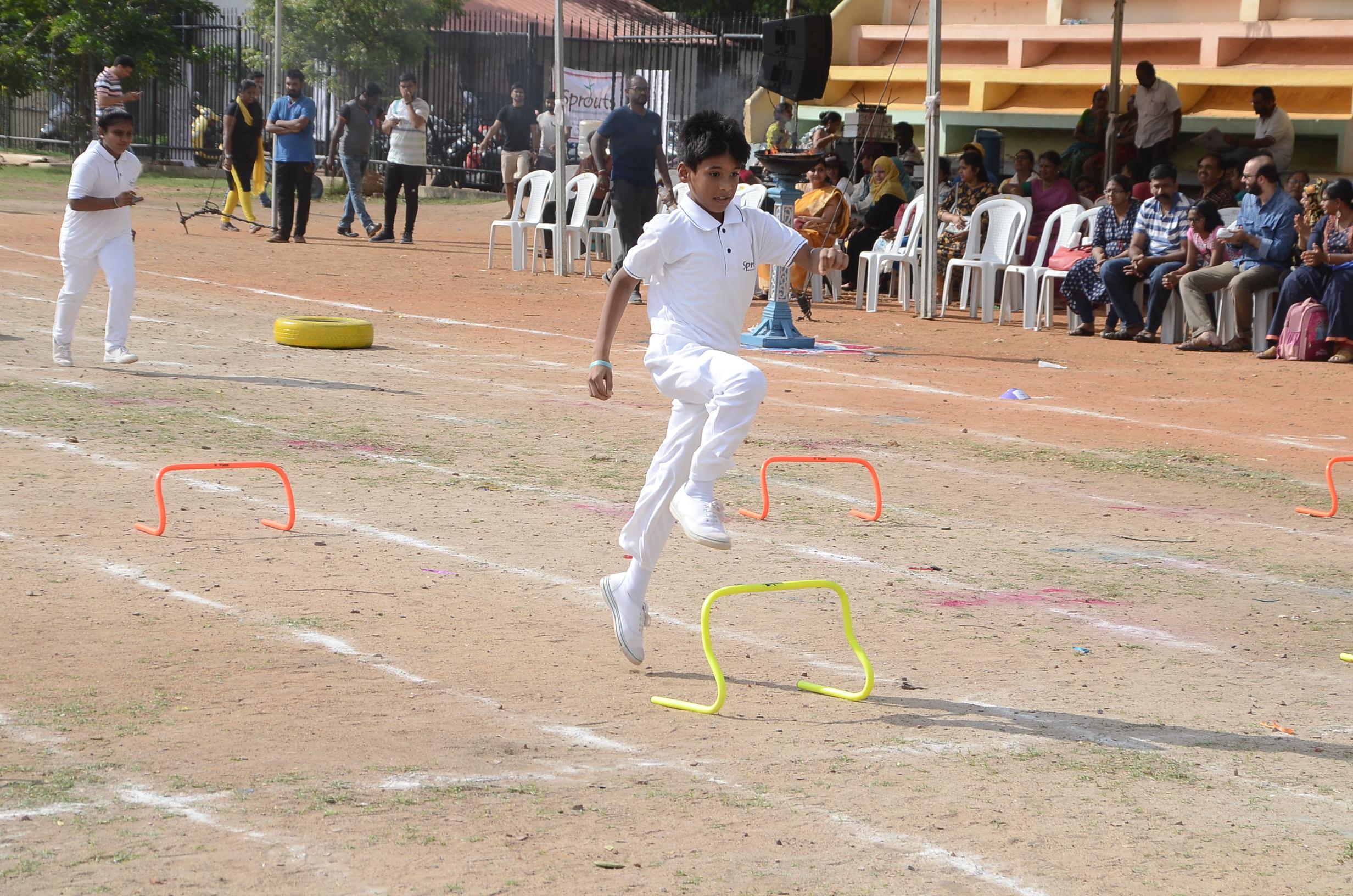 Jumping across hurdles