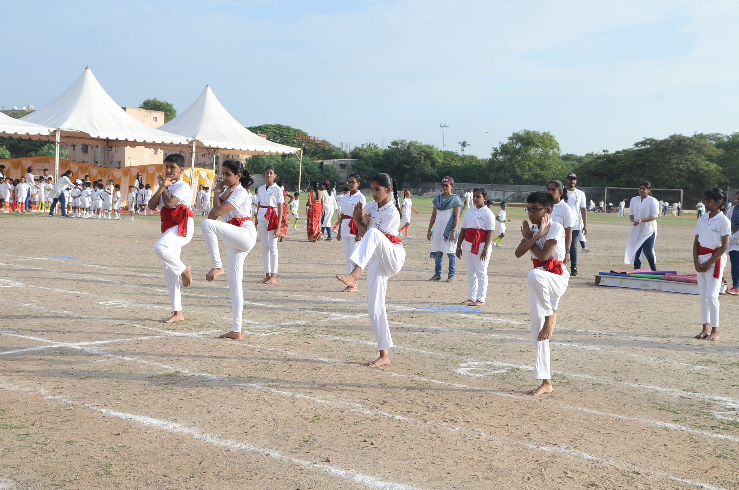 Beautiful display of Kalari movements