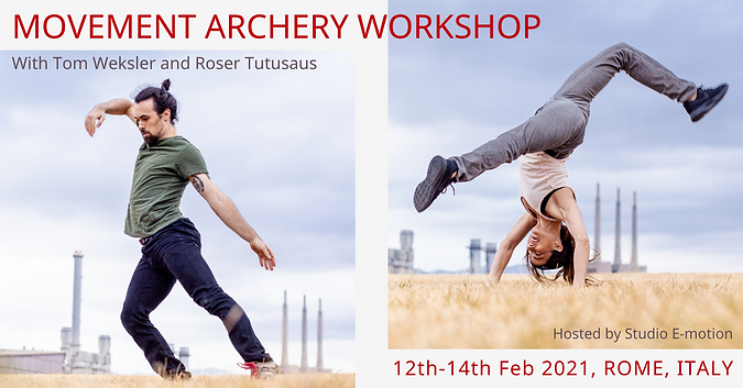 Rome, Feb 2021 movement archery workshop flyer