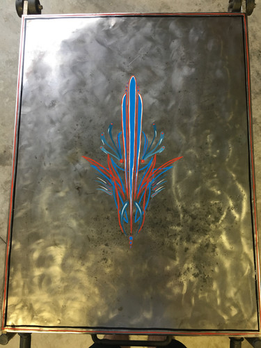 """Pinstriped Welding Table"""
