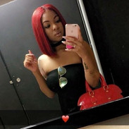 Red ❤️ Straight bundles dyed & still maintains its luster