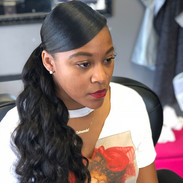Extended ponytail using our body wave texture