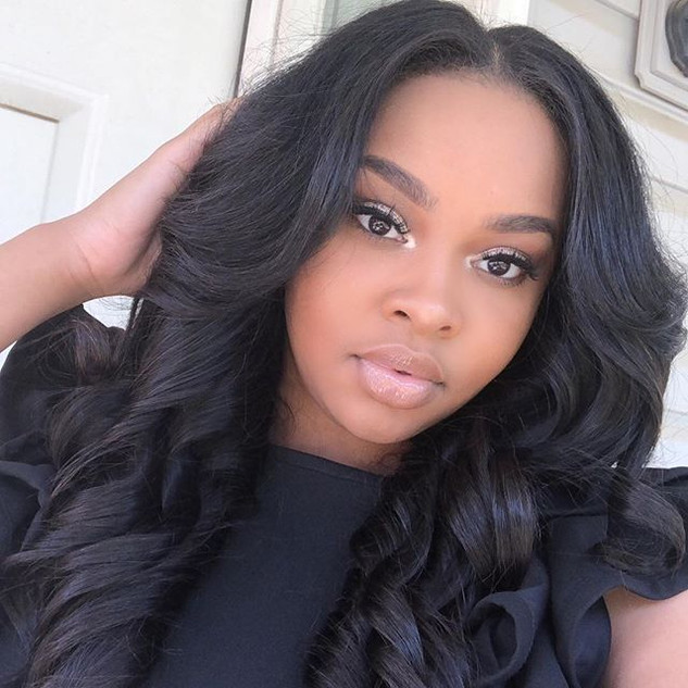 Brazilian Body Wave constructed into a wig unit