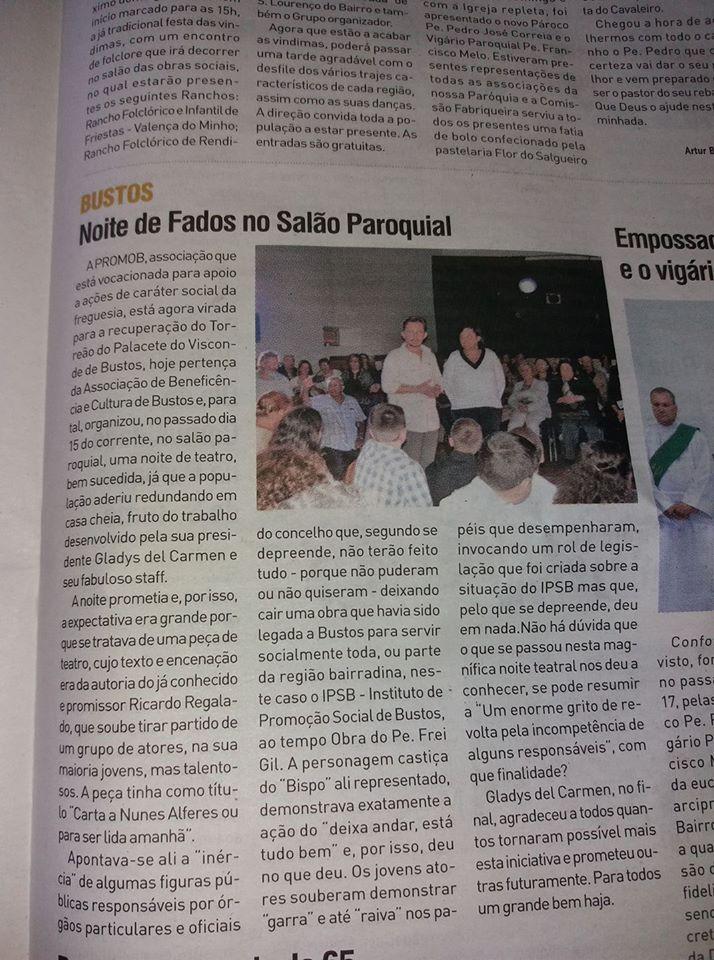 notícia Jornal da Bairrada