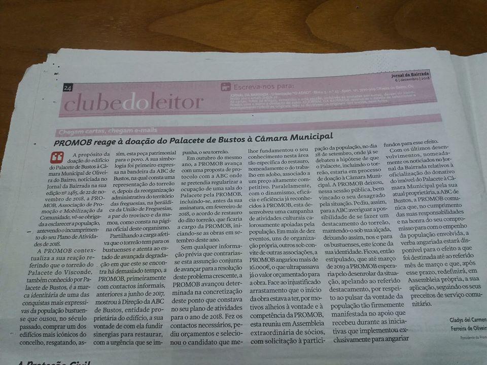 Artigo Jornal da Bairrada
