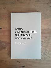 Livro Carta a Nunes Alferes
