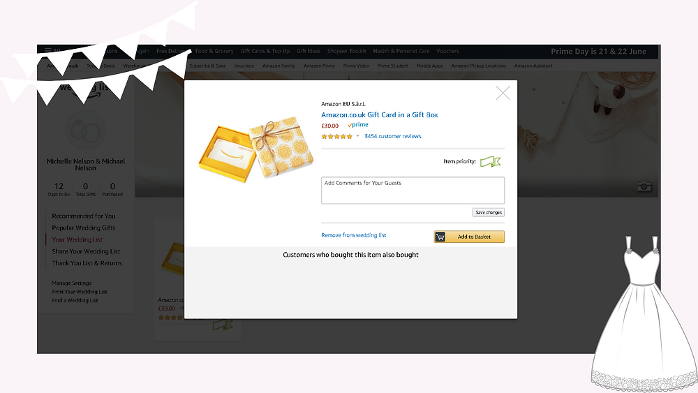 A guide to creating an Amazon wedding gift list