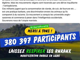 Première manifestation virtuelle en faveur de la ruralité