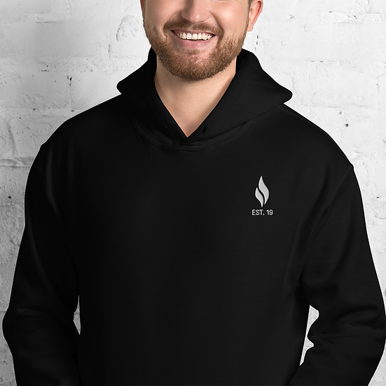 Official INSPIRED White Flame Hoodie