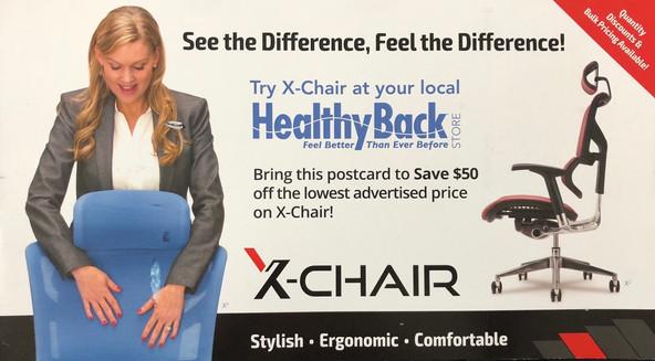 X-Chair Print Ad