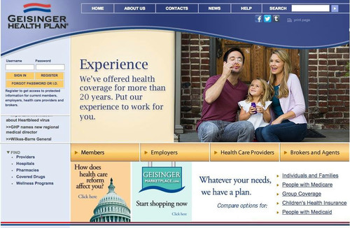 Geisinger Health Plan website