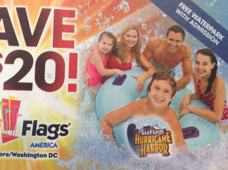 Six Flags Hurricane Harbor Ad