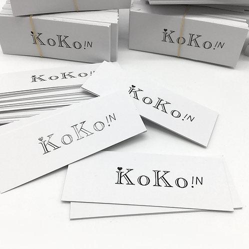 KOKO in吊牌、貼紙