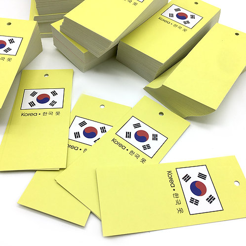 korea 吊牌