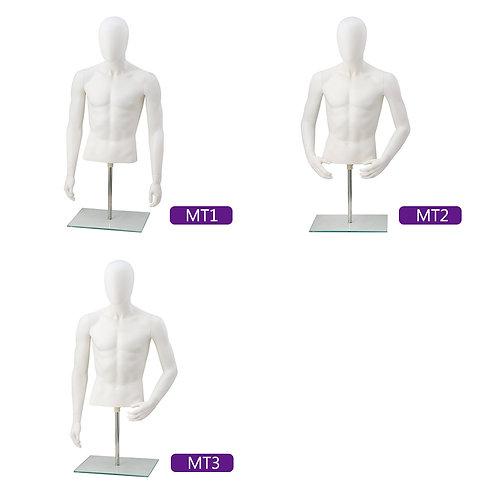 男半身台模 (有頭)