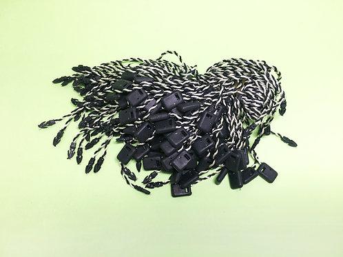 棉線吊牌繩-黑色(雙色)