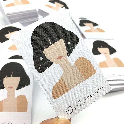 短髮 飾品卡