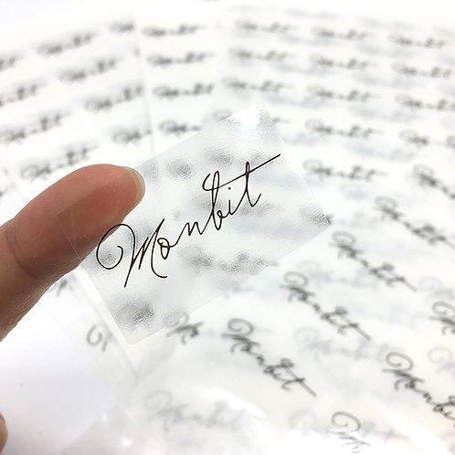 MonBit 透明貼紙