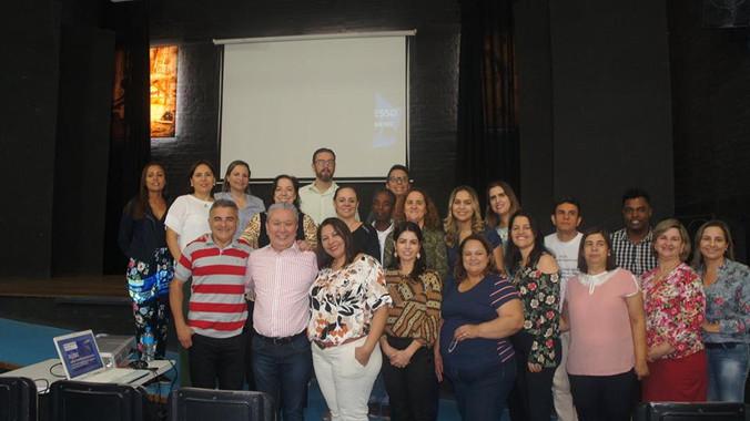 Formação na Escola Joel Antonio de Lima Genésio em Presidente Prudente, SP.