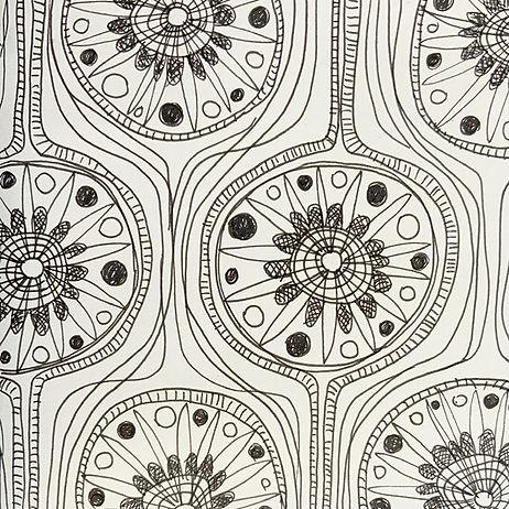 Bolt textile fabric pattern black line loddelina
