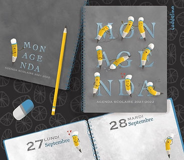 journal cover illustration agenda loddelina