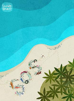 editorial illustration sos loddelina