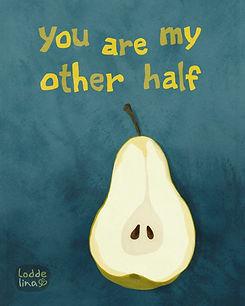 pear greeting card loddelina illustration