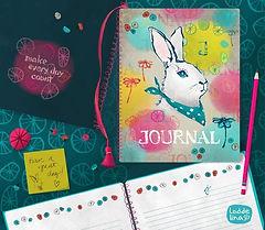 bunny journal editorial product illustration loddelina