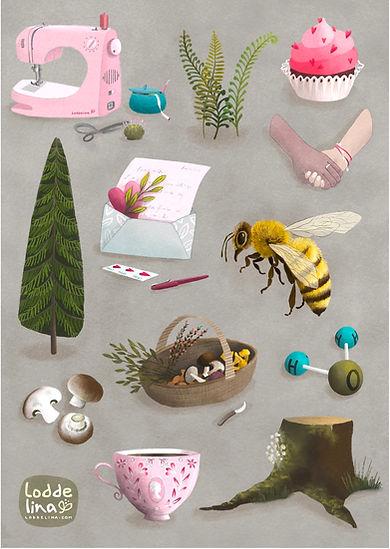 editorial illustration loddelina nature