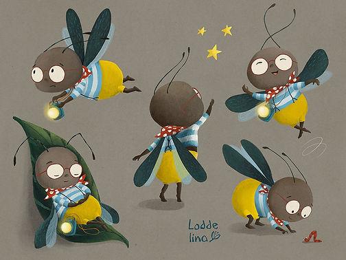 character loddelina children's book illustration