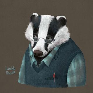 badger illustration loddelina children's books