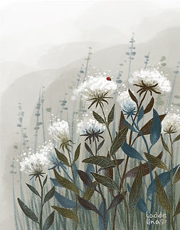 illustration scene children's book loddelina nature ladybird