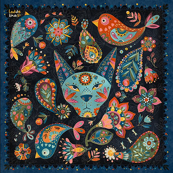 pussle paisley decor surface design toys illustration loddelina