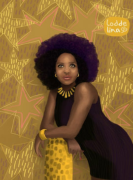 viola davis portrait illustration editorial loddelina
