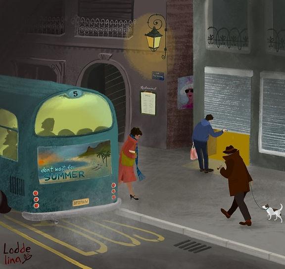 editorial illustration city streets loddelina