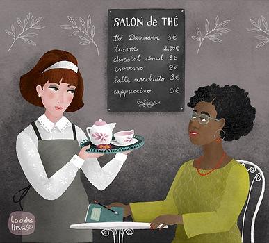 illustration editorial loddelina tea time people