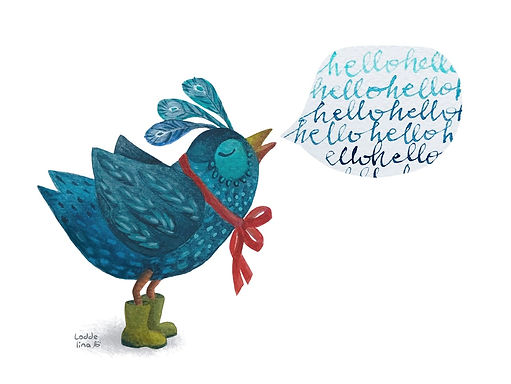 bird illustration children books loddelina