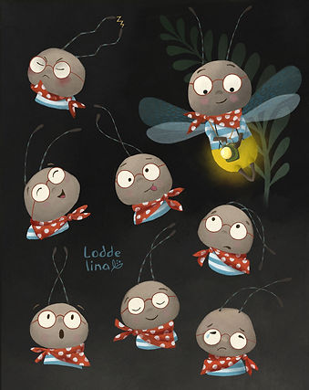character emotions children's book illustration loddelina