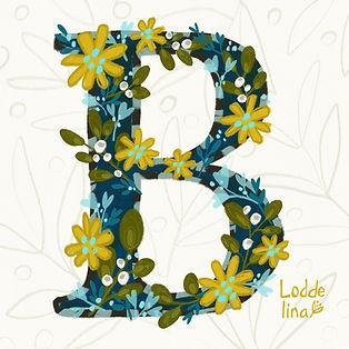 illustration lettering b loddelina