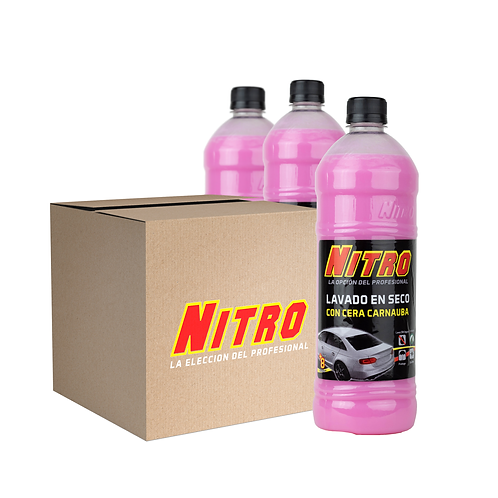 Pack de 15 Productos Nitro / Lavado en Seco con Cera Carnauba de 900 ML