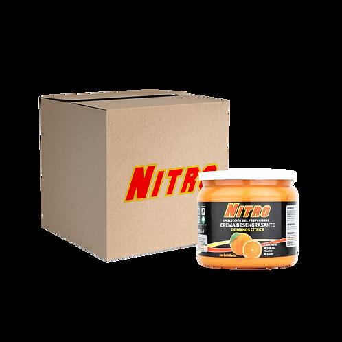 Pack de 15 Crema Desengrasante de Manos Cítrica de 1 Litro