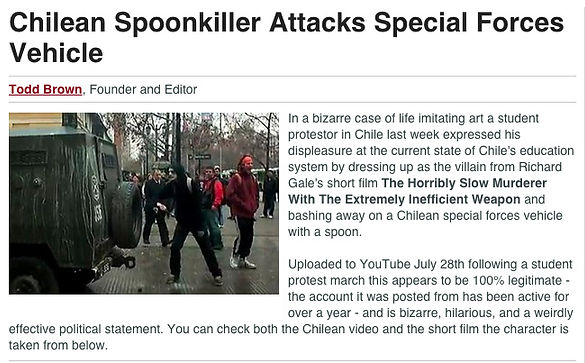 Chilean Spoonkiller Attacks Special Forces Vehicle article