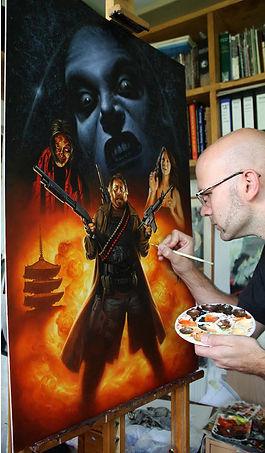 Ginosaji Movie Poster hand-painted by Milivoj Ceran