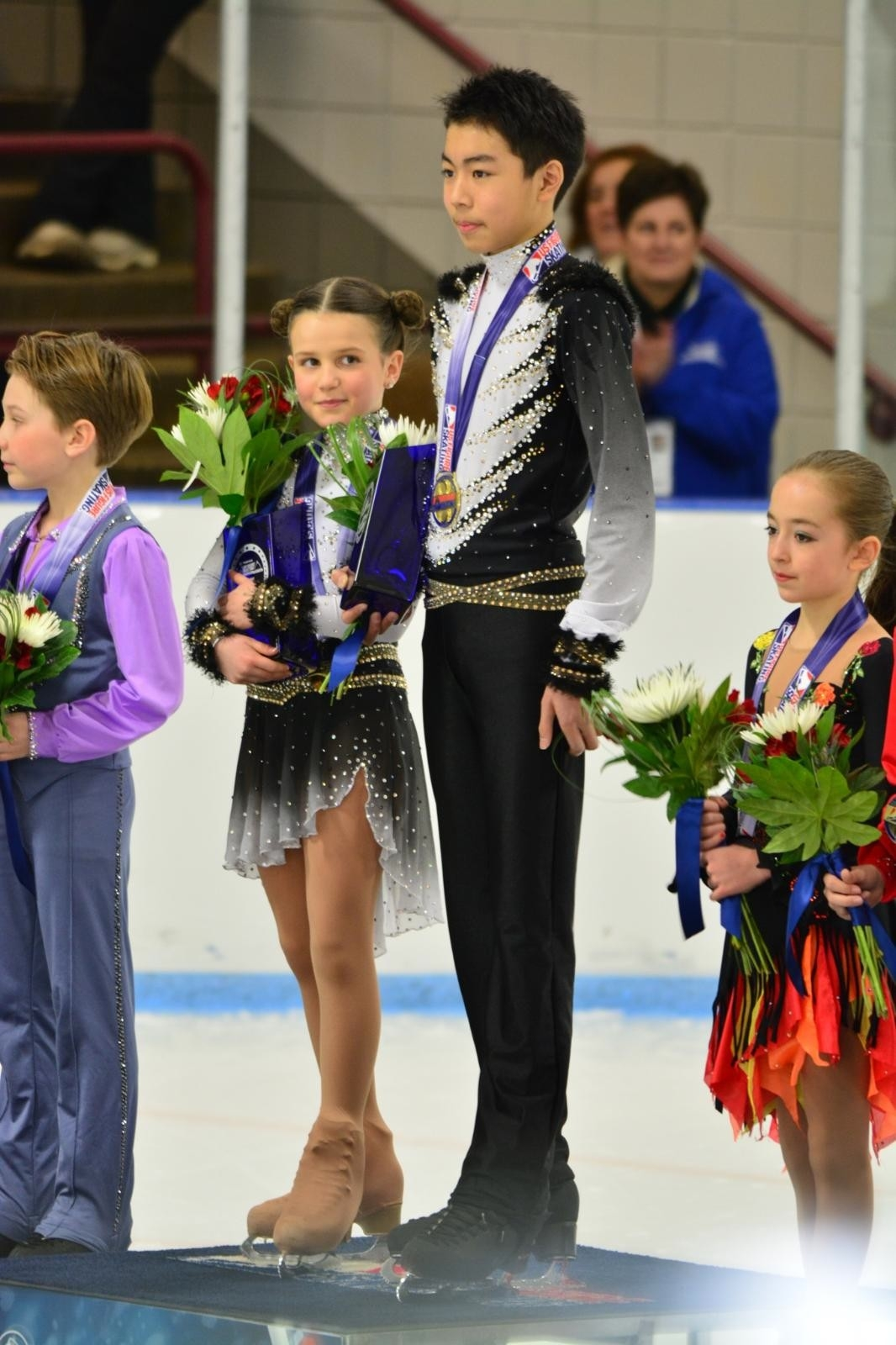 On the podium, U.S. Championship