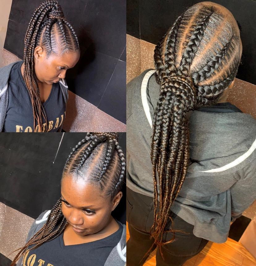 large feedin ponytail