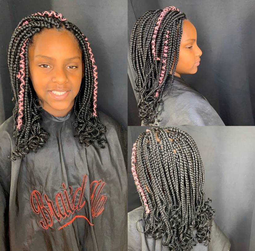 Kids medium box braids